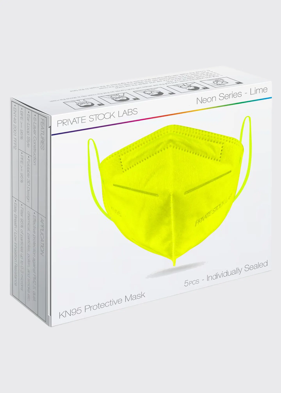 Private Stock Labs Disposable Face Masks
