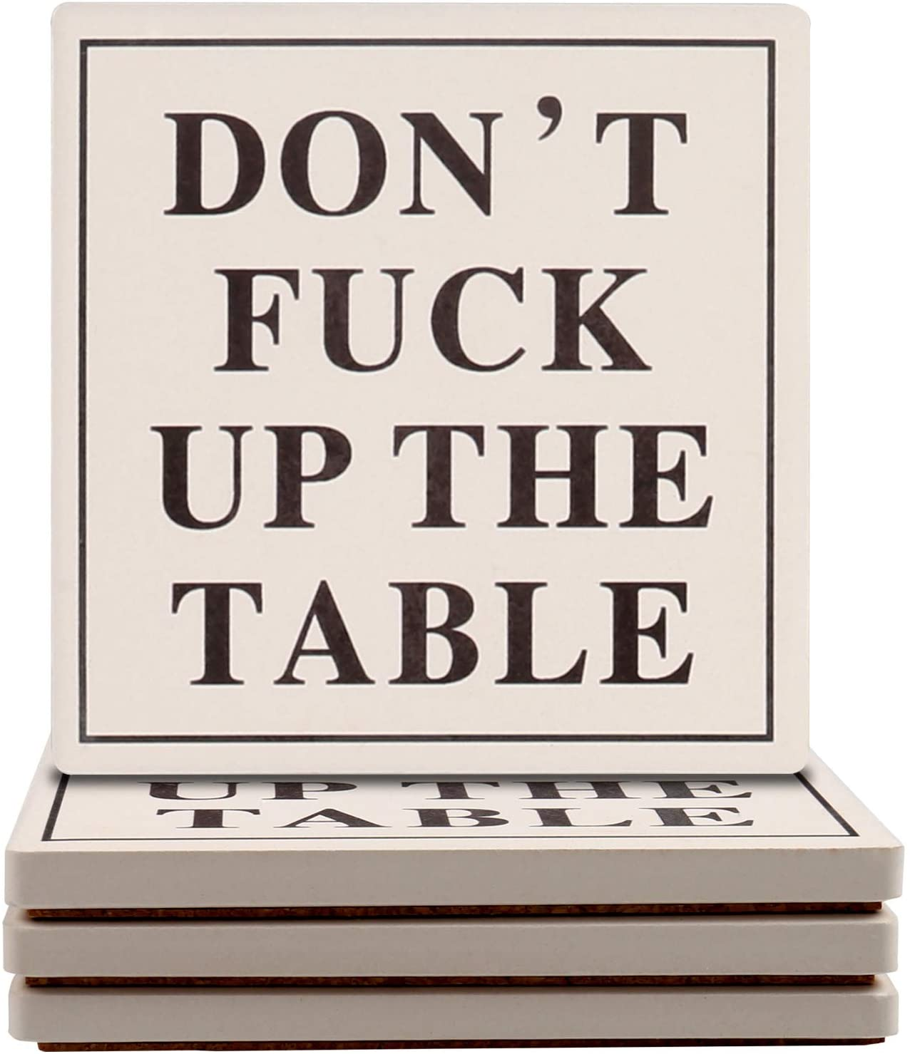 Don't F-Up the Table Coasters Gag GIft