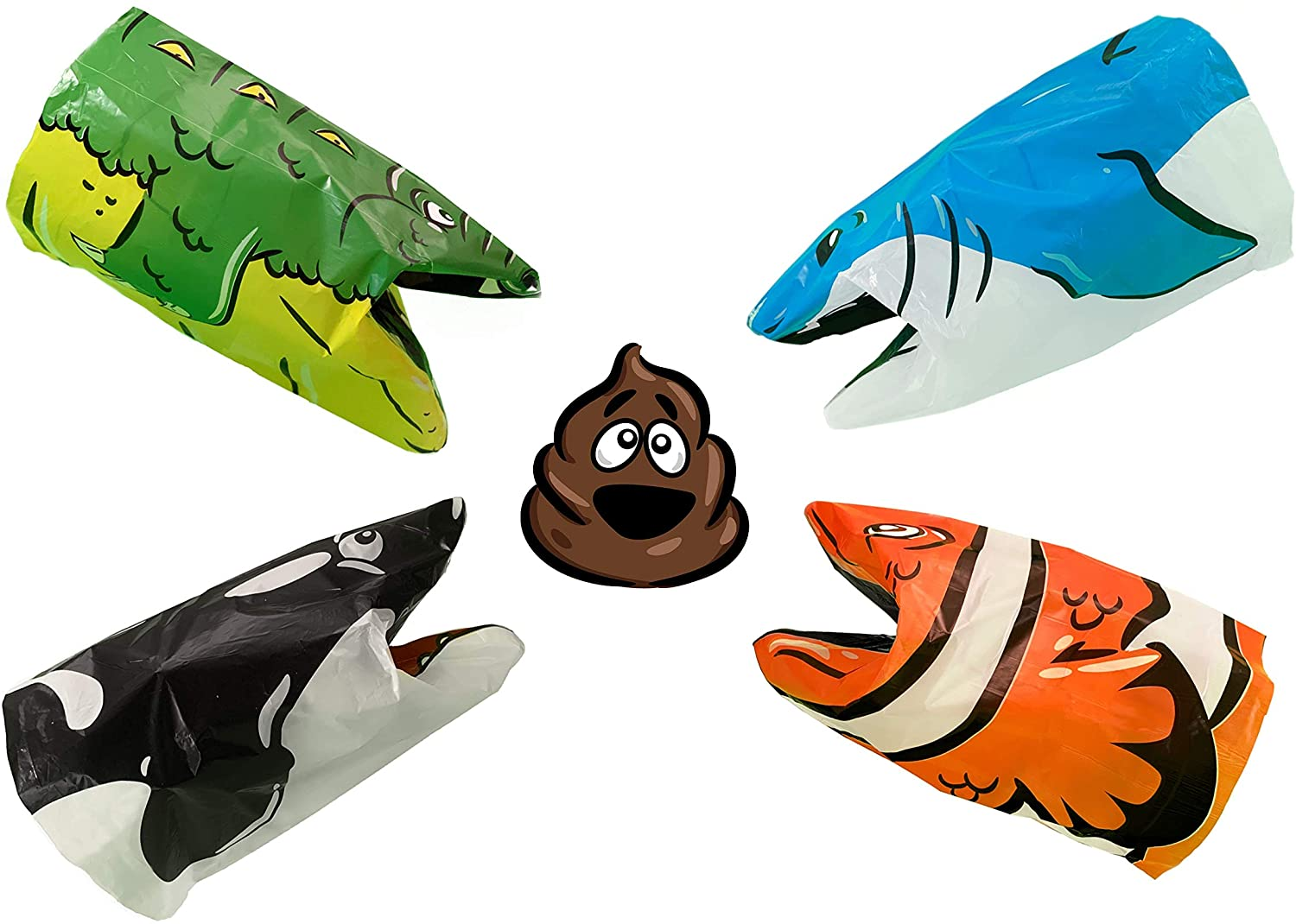 Funny animal shaped poo bags