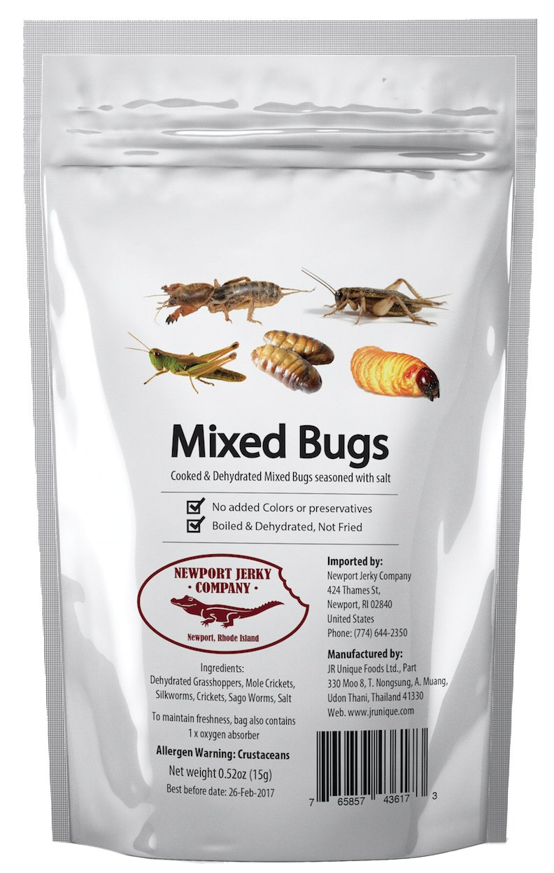 Edible mixed bugs