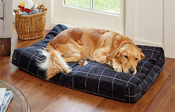 Orvis Toughchew Comfortifill-Eco Platform Dog Bed