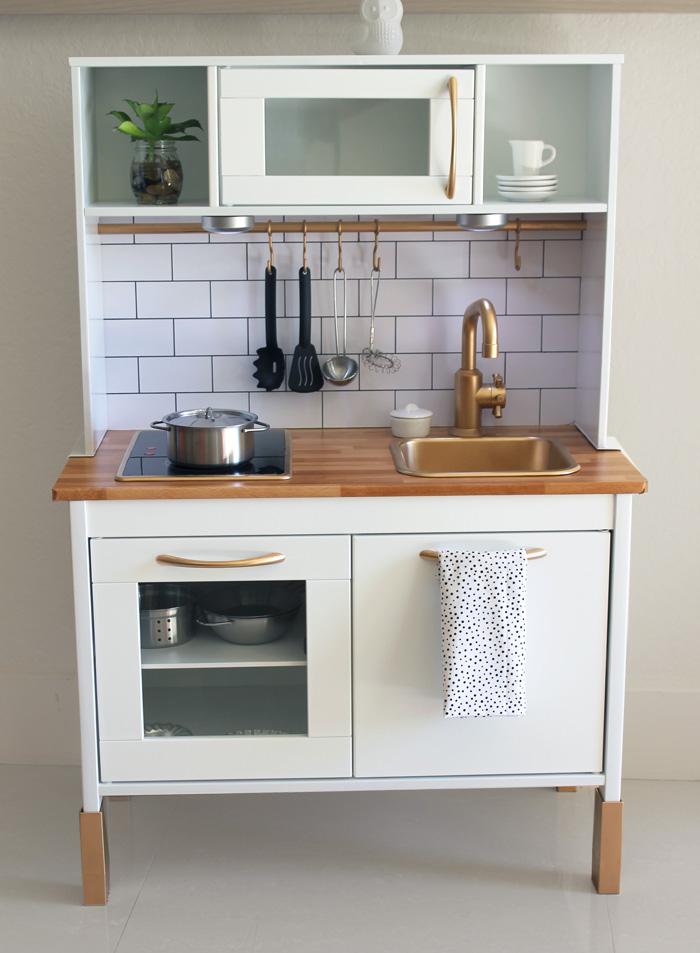 Upgraded play kitchen using Ikea furniture