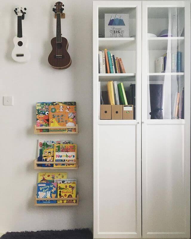 Spice rack as a book shelf