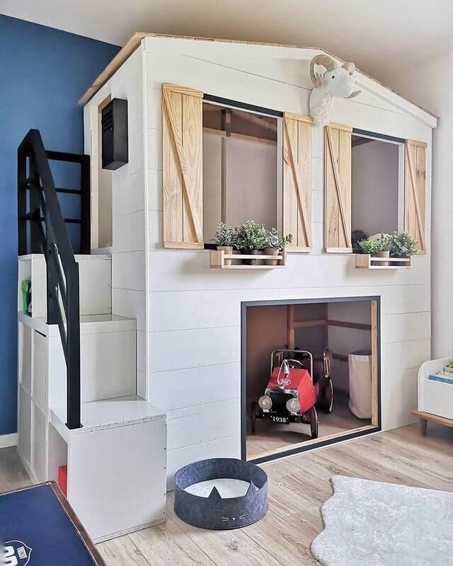 Kura bed turned playhouse