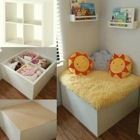Cube turned into reading nook