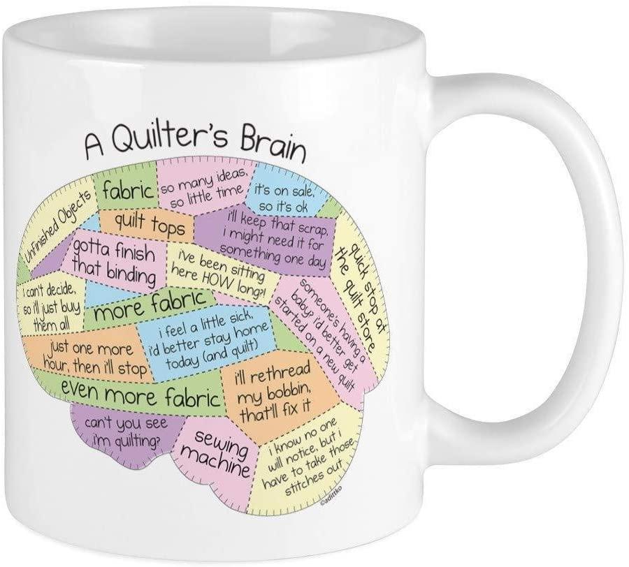 Quilters Brain Coffee Mug