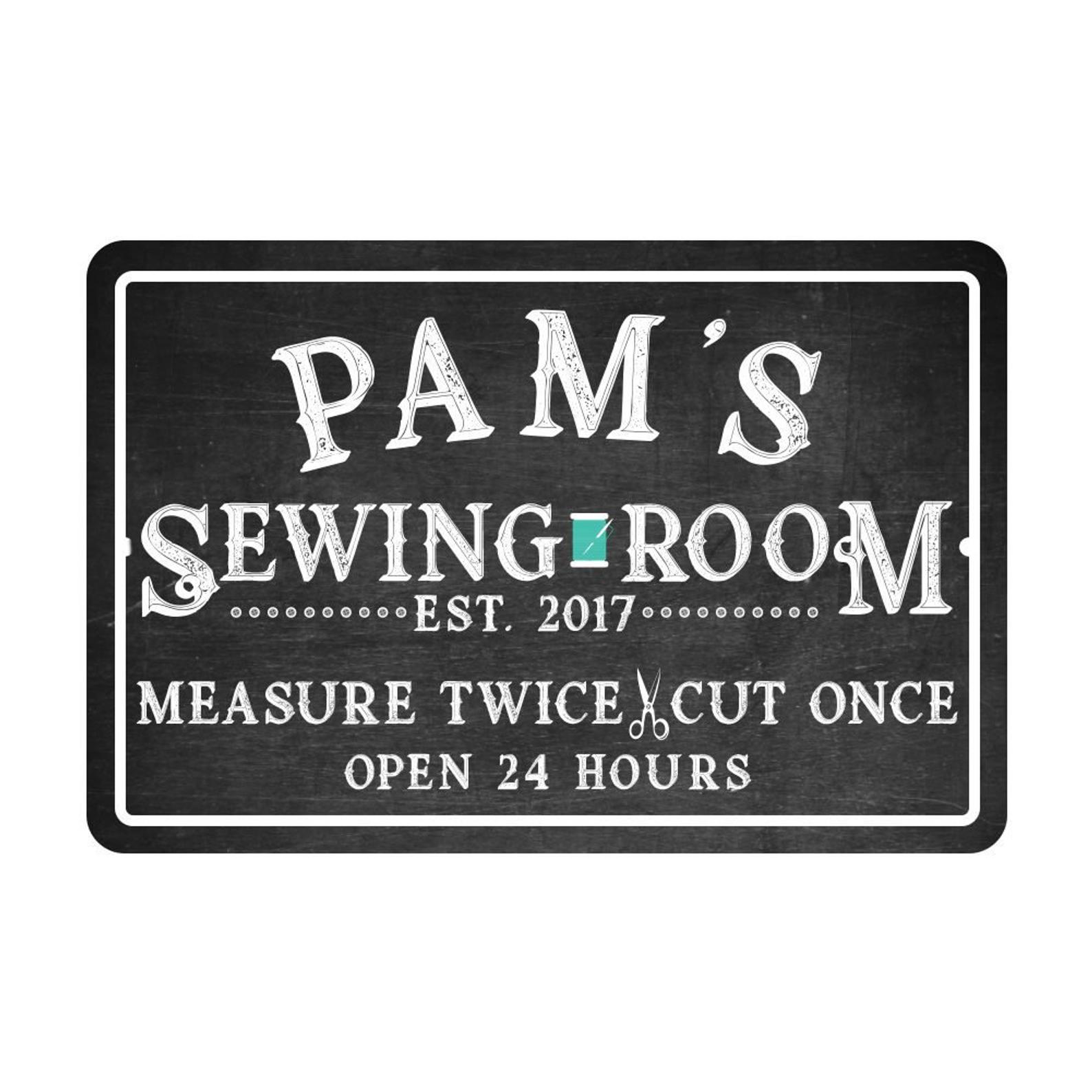 Personalized Sewing Room SIgn