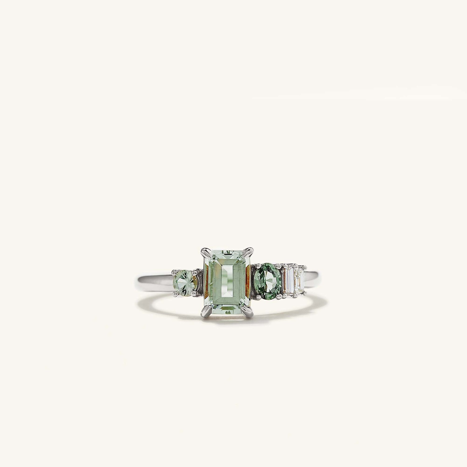 Linear Cluster Engagement Ring