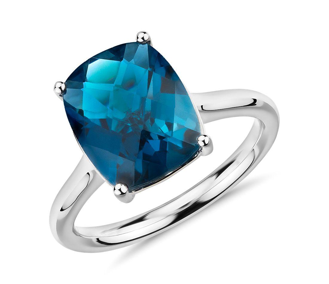 London Blue Topaz Engagement Ring