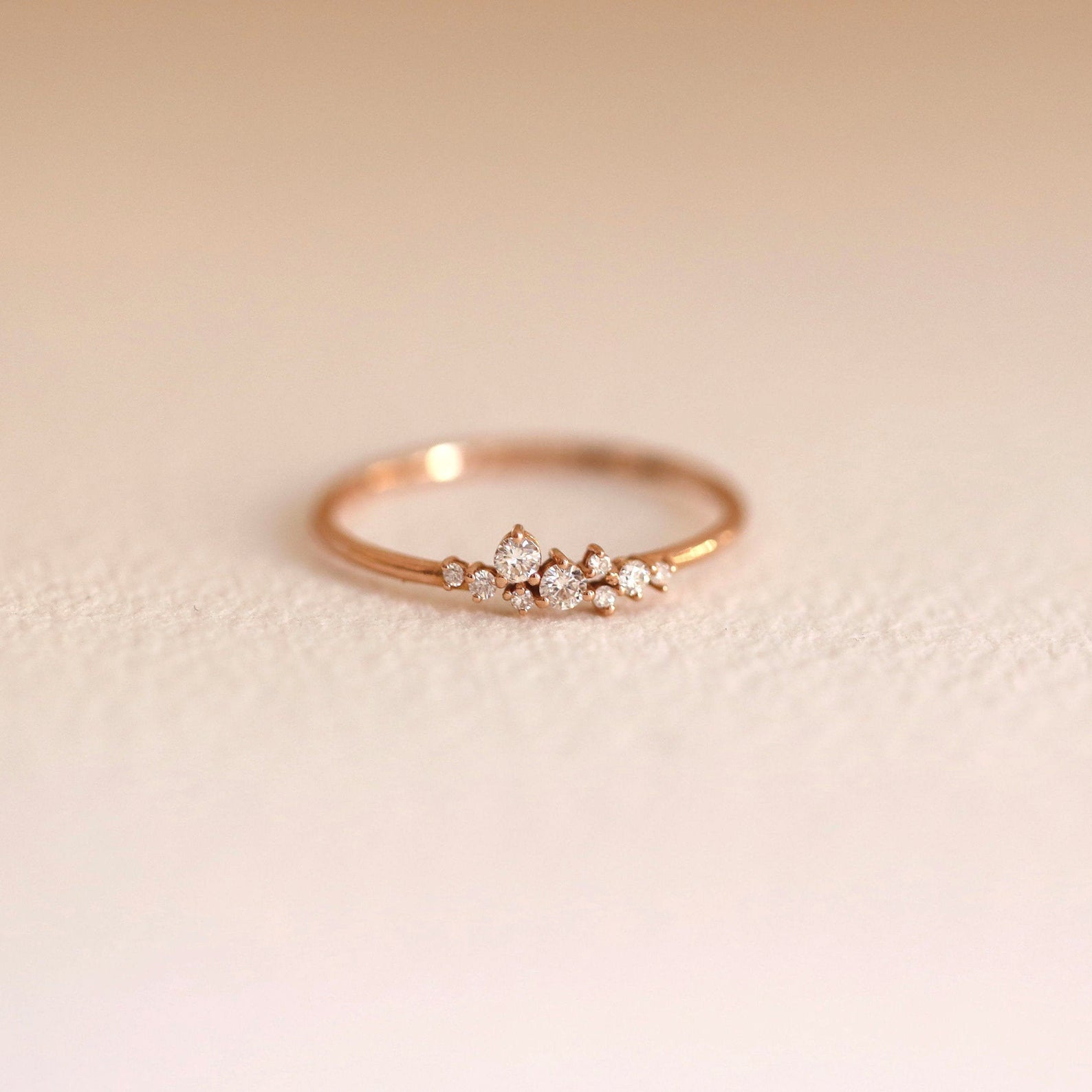 Conflict-Free Diamond Cluster Wedding Band