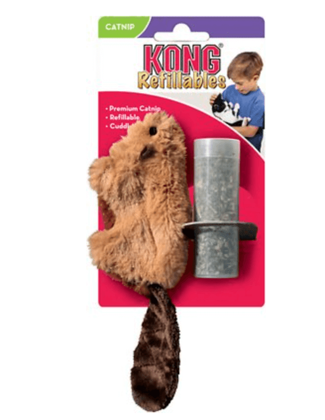 KONG Refillable Beaver Catnip Toy