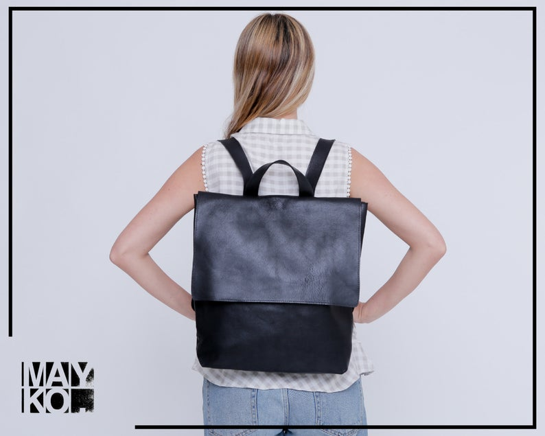 Mayko Leather Backpack