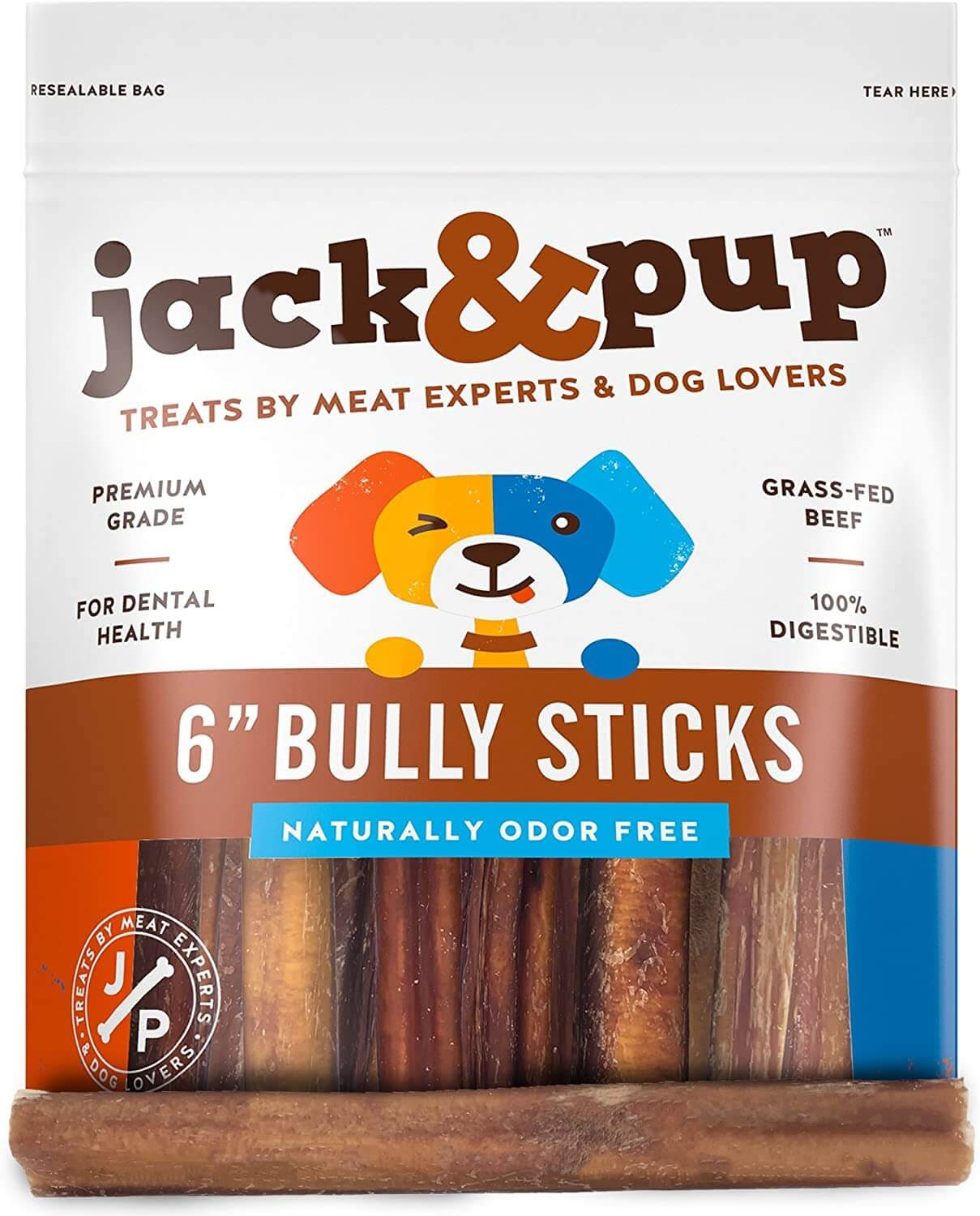 "Jack & Pup 6"" Bully Sticks"