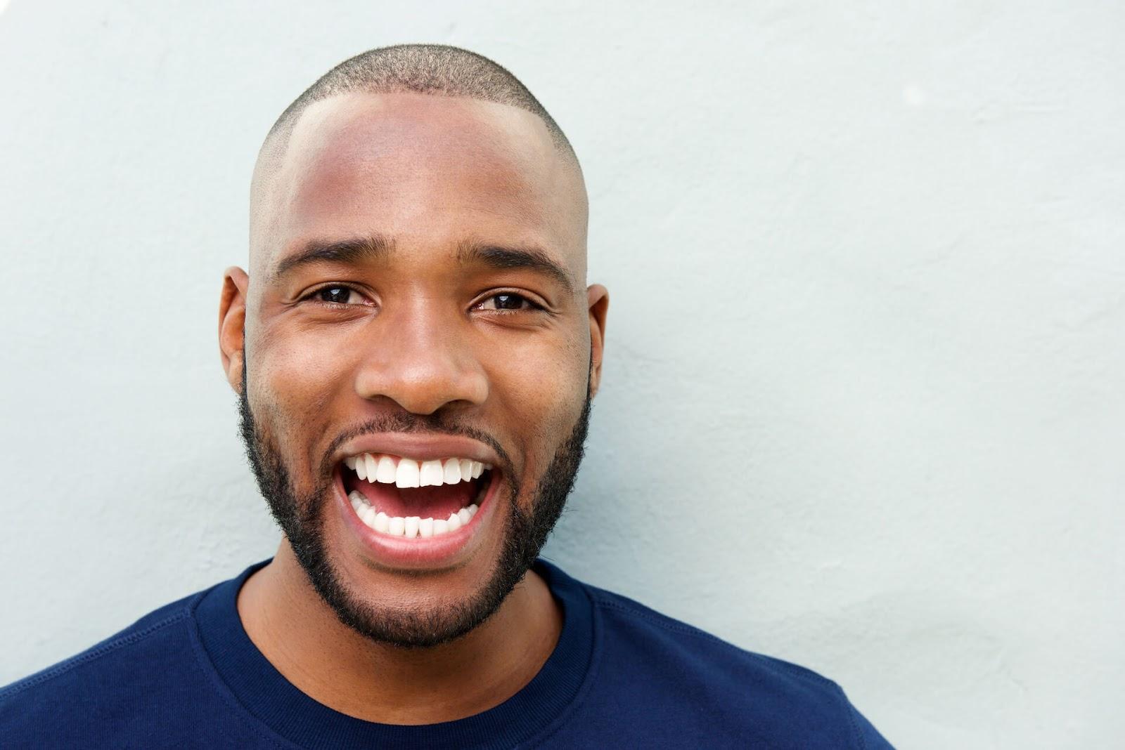 Man rocking a pearly-white smile