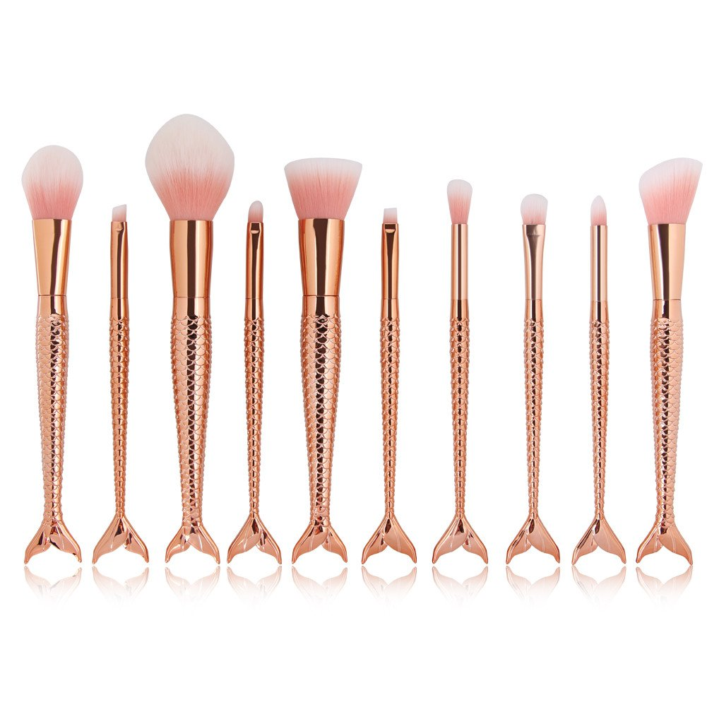 Rose Gold Makeup Brush Set