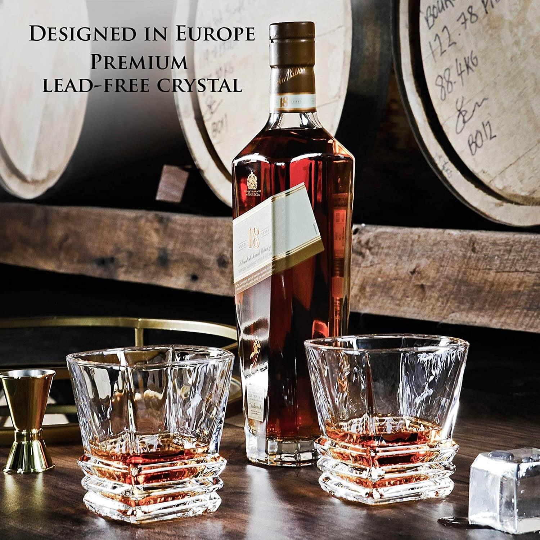 Maketh the Man Art Deco Whiskey Glasses
