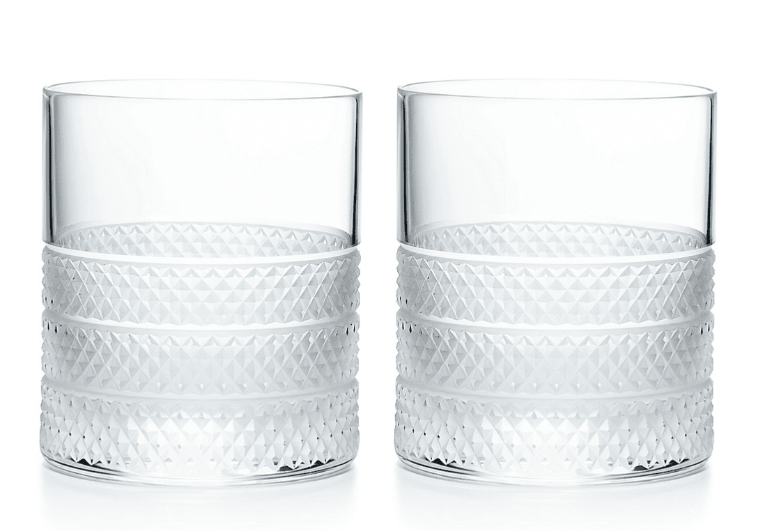 Tiffany & Co. Diamond Point Old Fashioned Glass