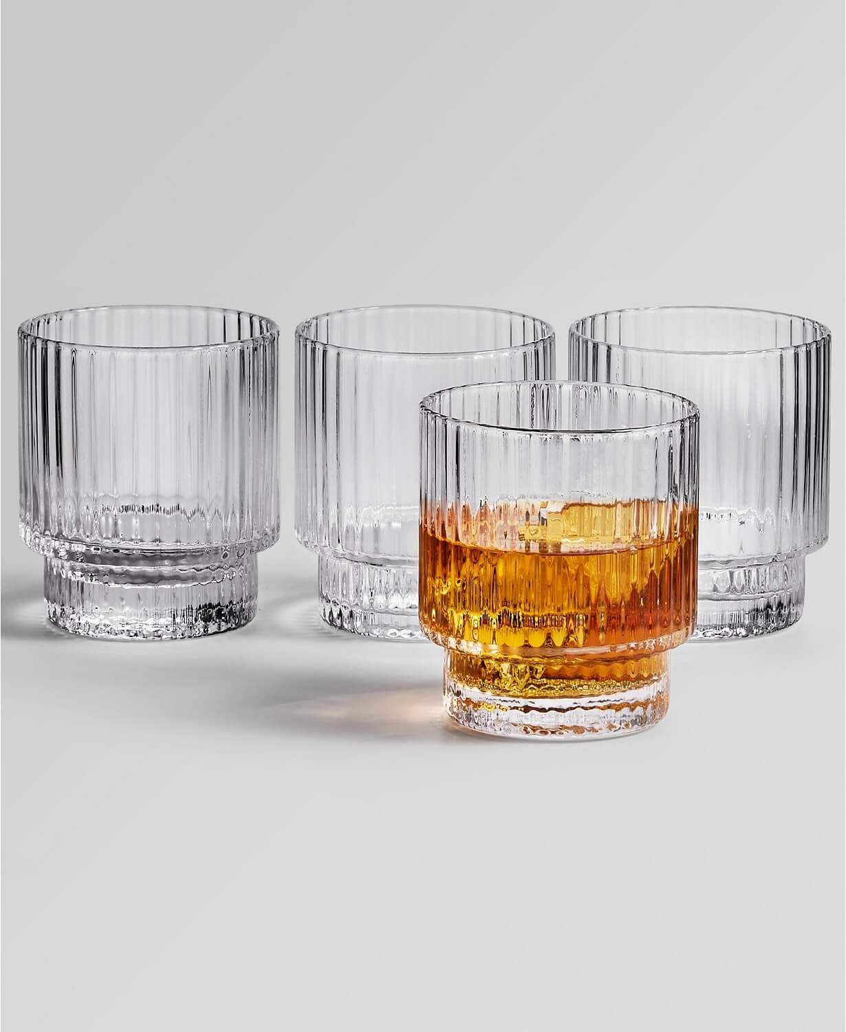 Hotel Collection Fluted Double Old Fashioned Glasses