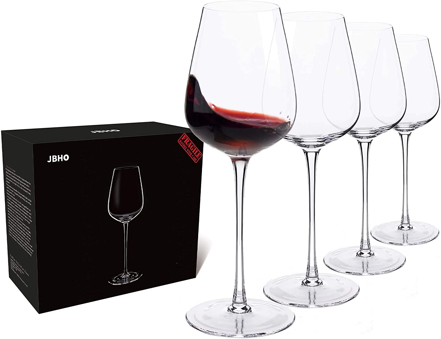 Set of 4 wine glasses for someone turning 40