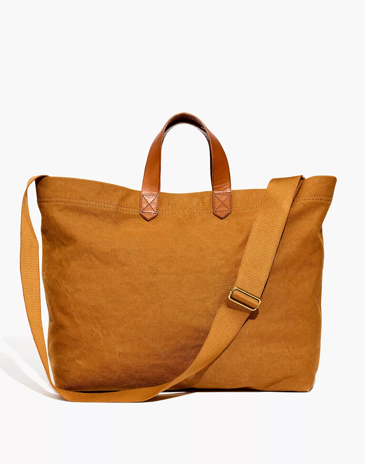 Camel colored Madewell Transport Tote