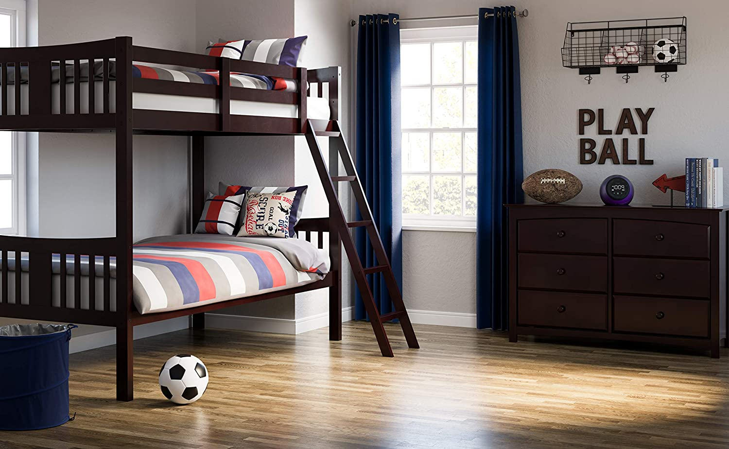 Stork Craft Hardwood Navy Bunkbed