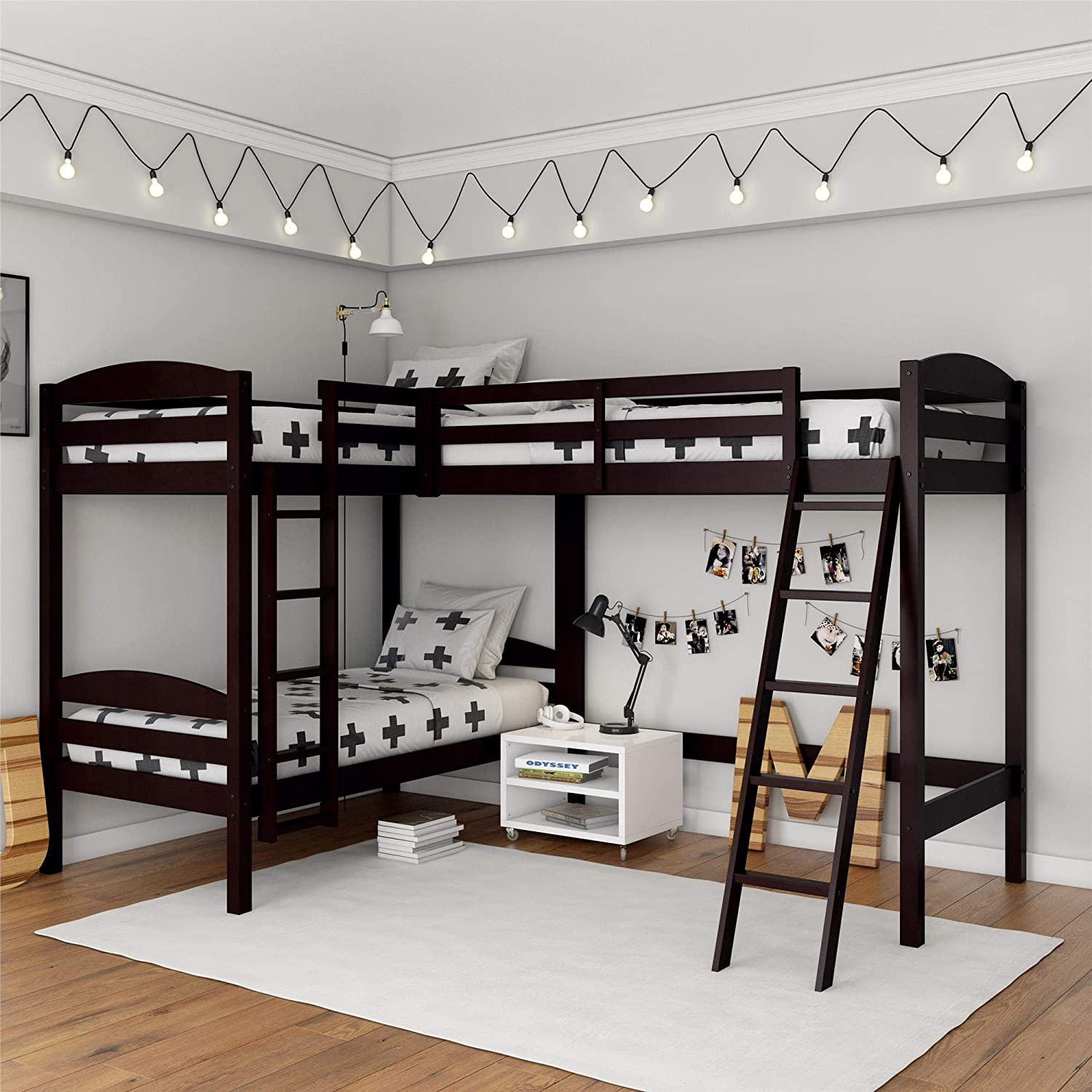 Dorel Living Clearwater Triple Bunk Beds