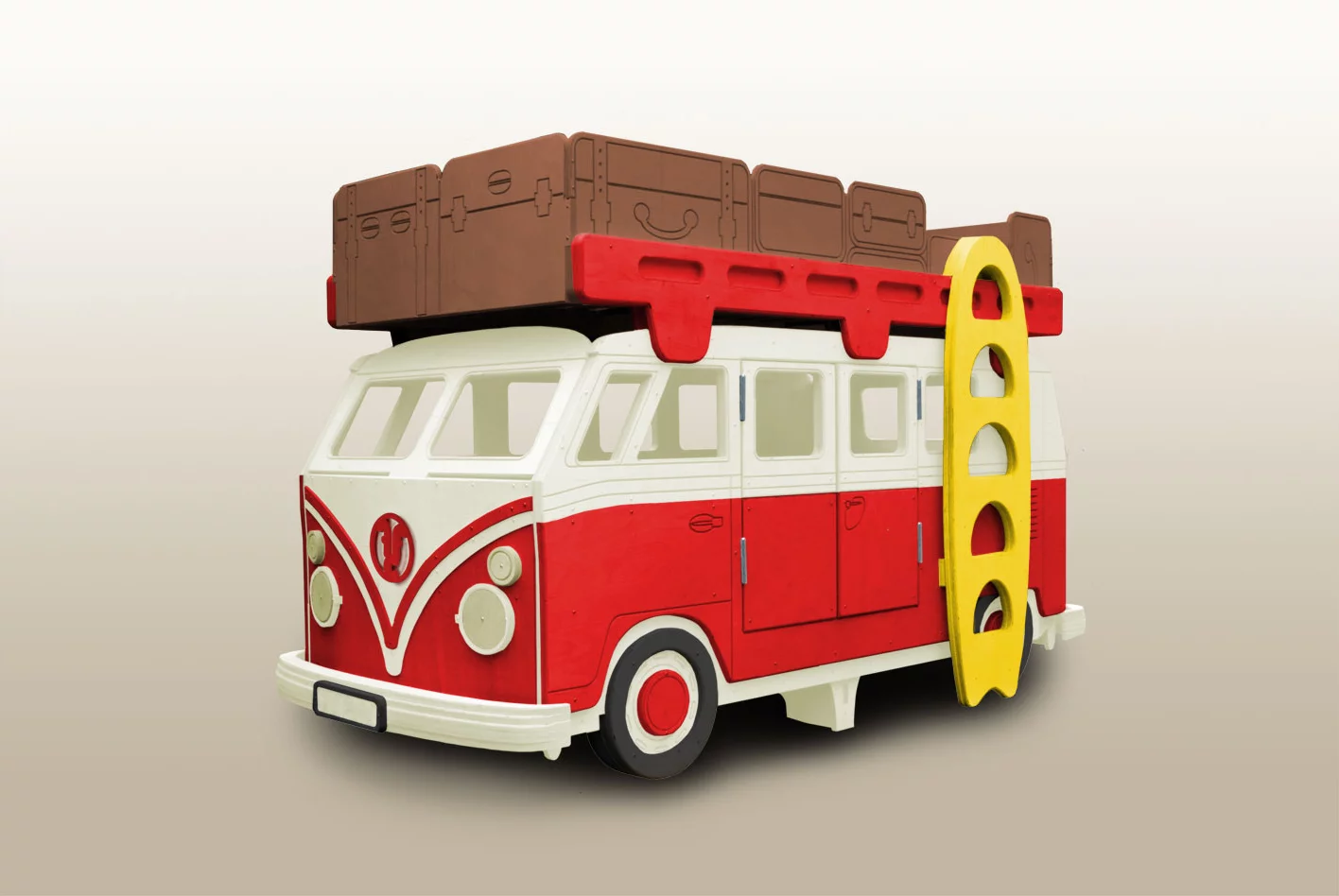 Fun Retro Camper Van Bunk