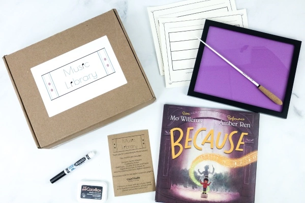 Contents in Music Library Subscription Box