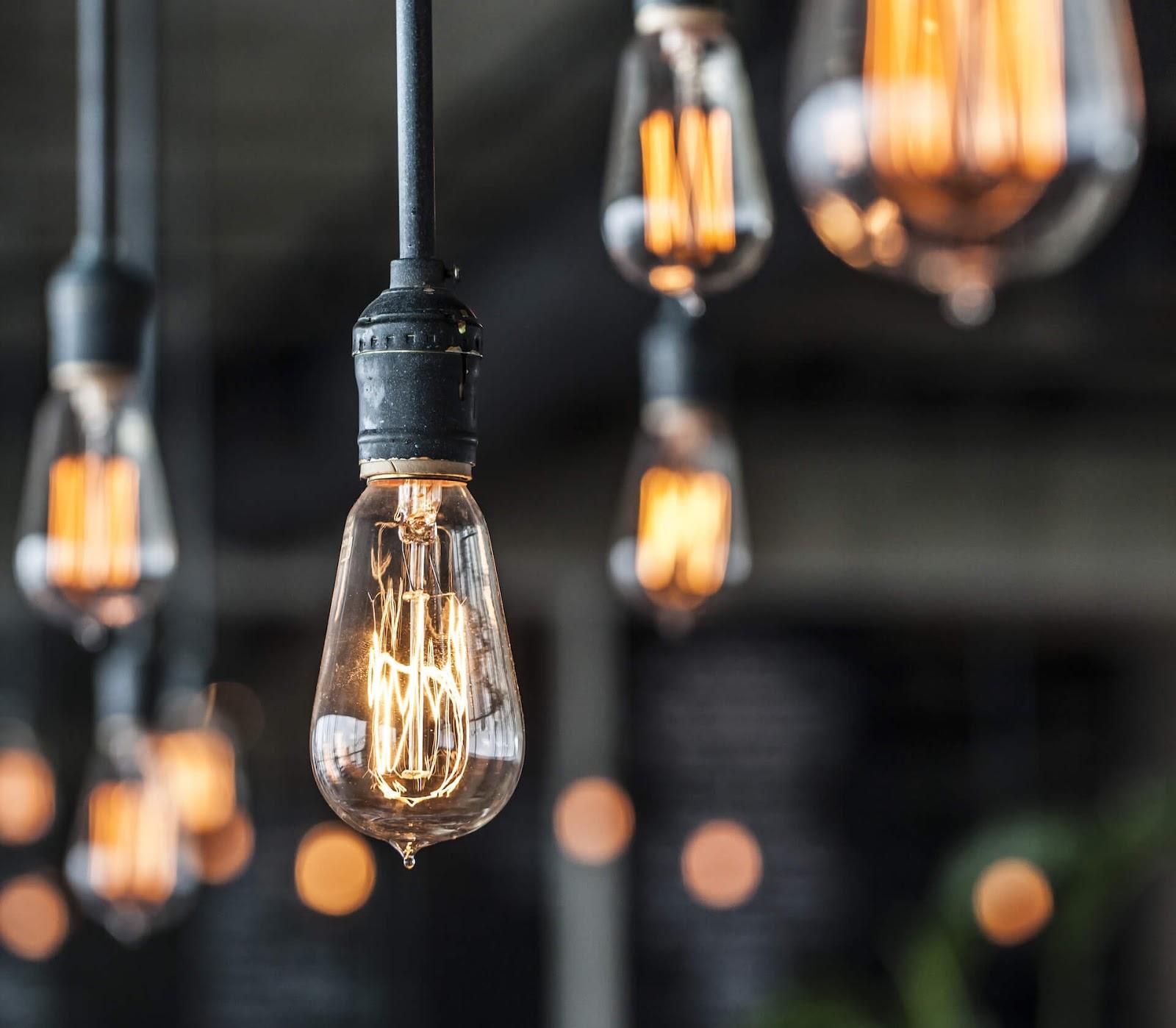 Thomas Edison style pendant lights