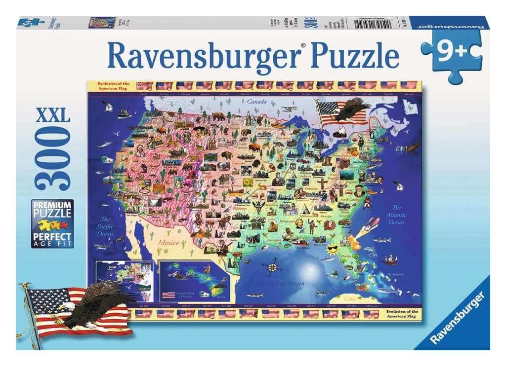 Ravensburger USA Map puzzle