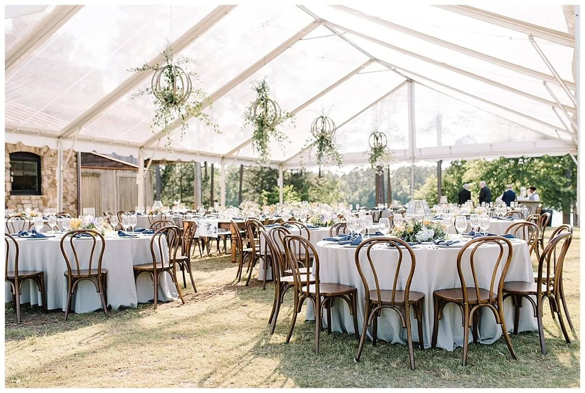 Outdoor wedding venue in the early afternoon