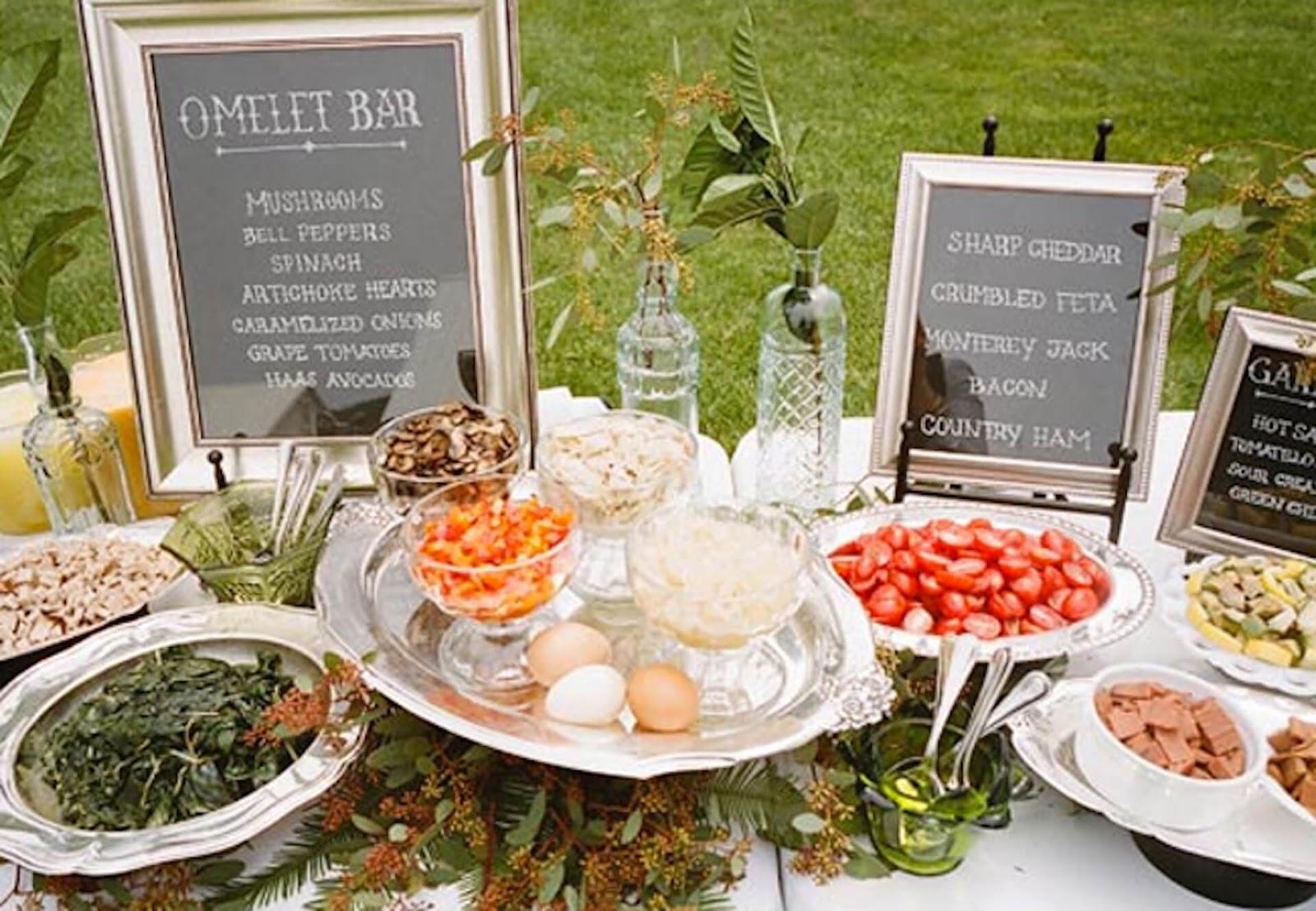Omelet Bar at a wedding