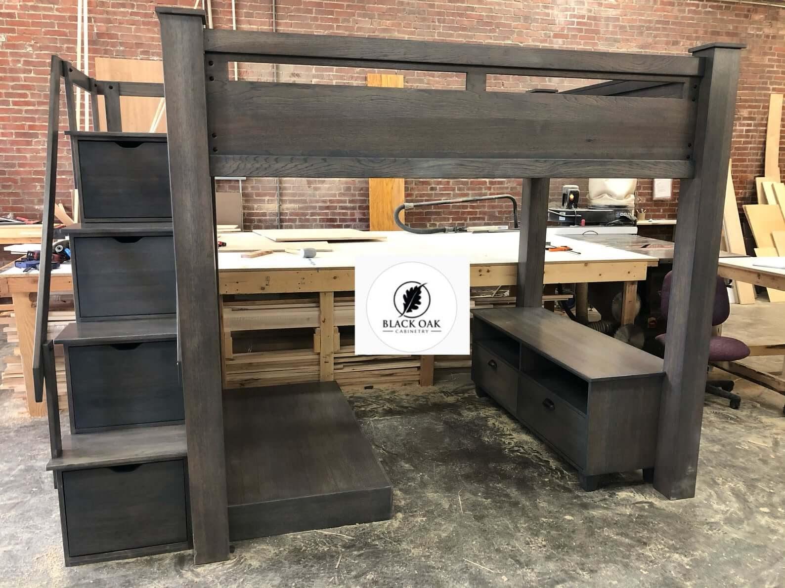 Black Oak Cabinetry Full-Size Loft Bed