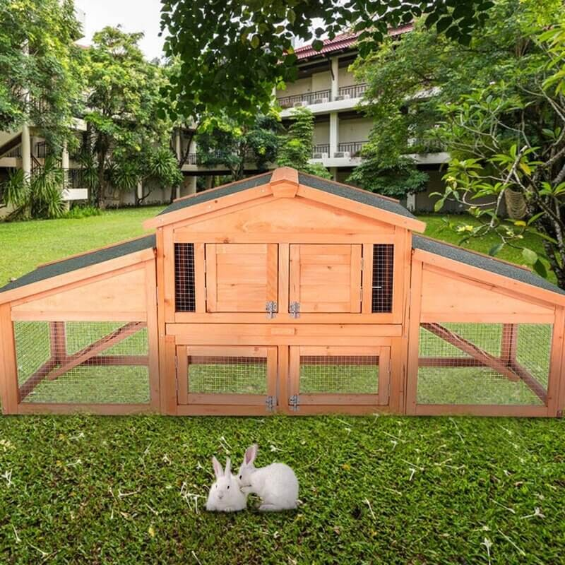 Sariyah Outdoor Wooden Cat House