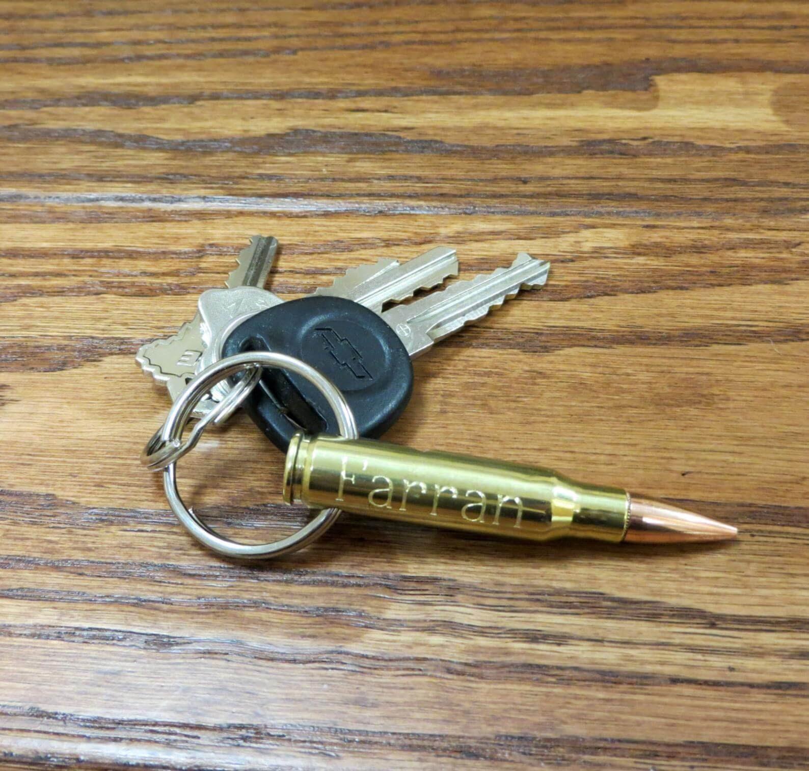 Bullet Bottle Opener Keychain