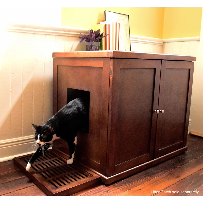 Archie & Oscar Cathey Wooden Litter Box Cabinet