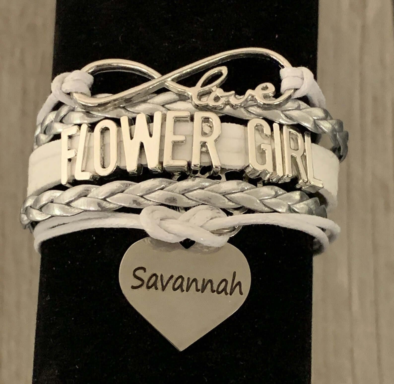Flower Girl Personalized Bracelet