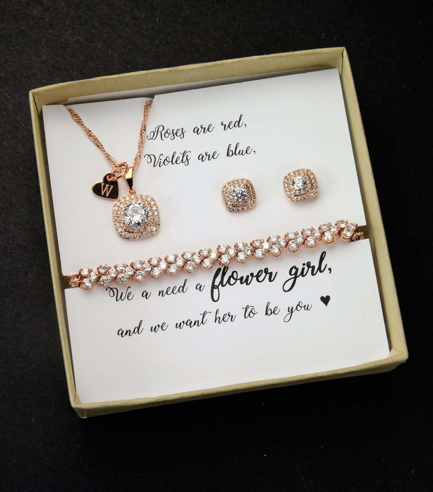 Flower Girl Proposal jewelry