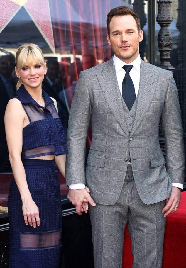 Chris Pratt and Anna Farris together
