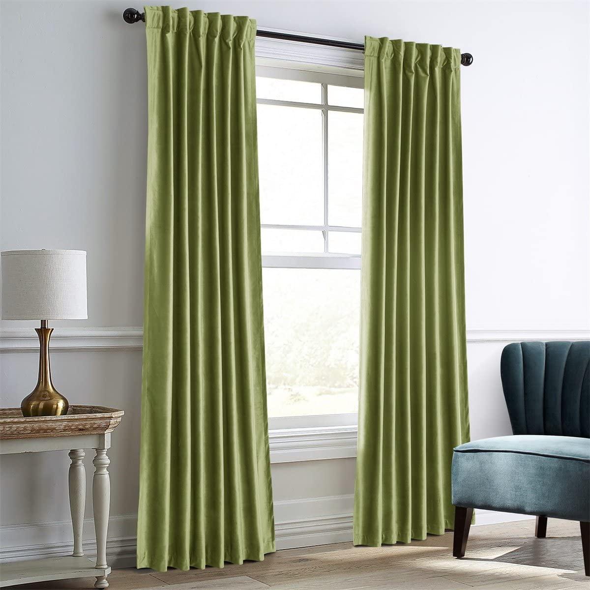 Dreaming Casa Green Velvet Curtain