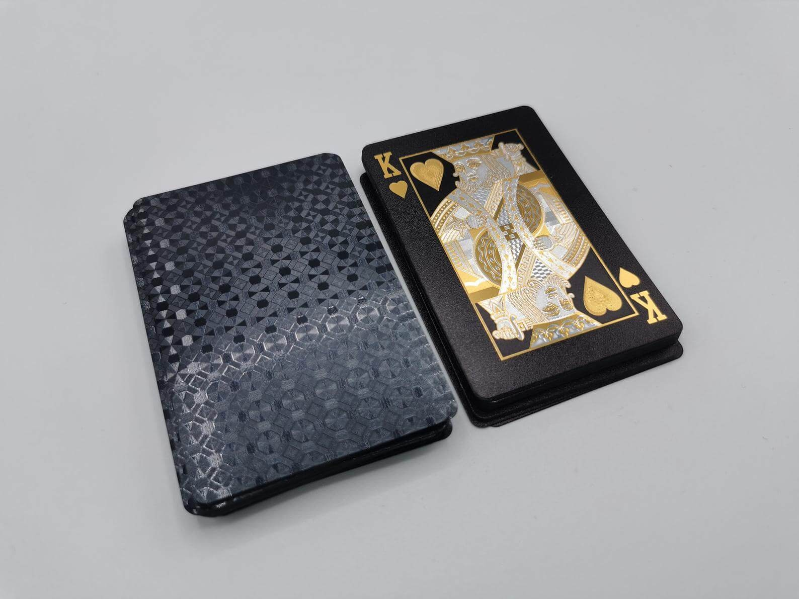 luxury black playing cards
