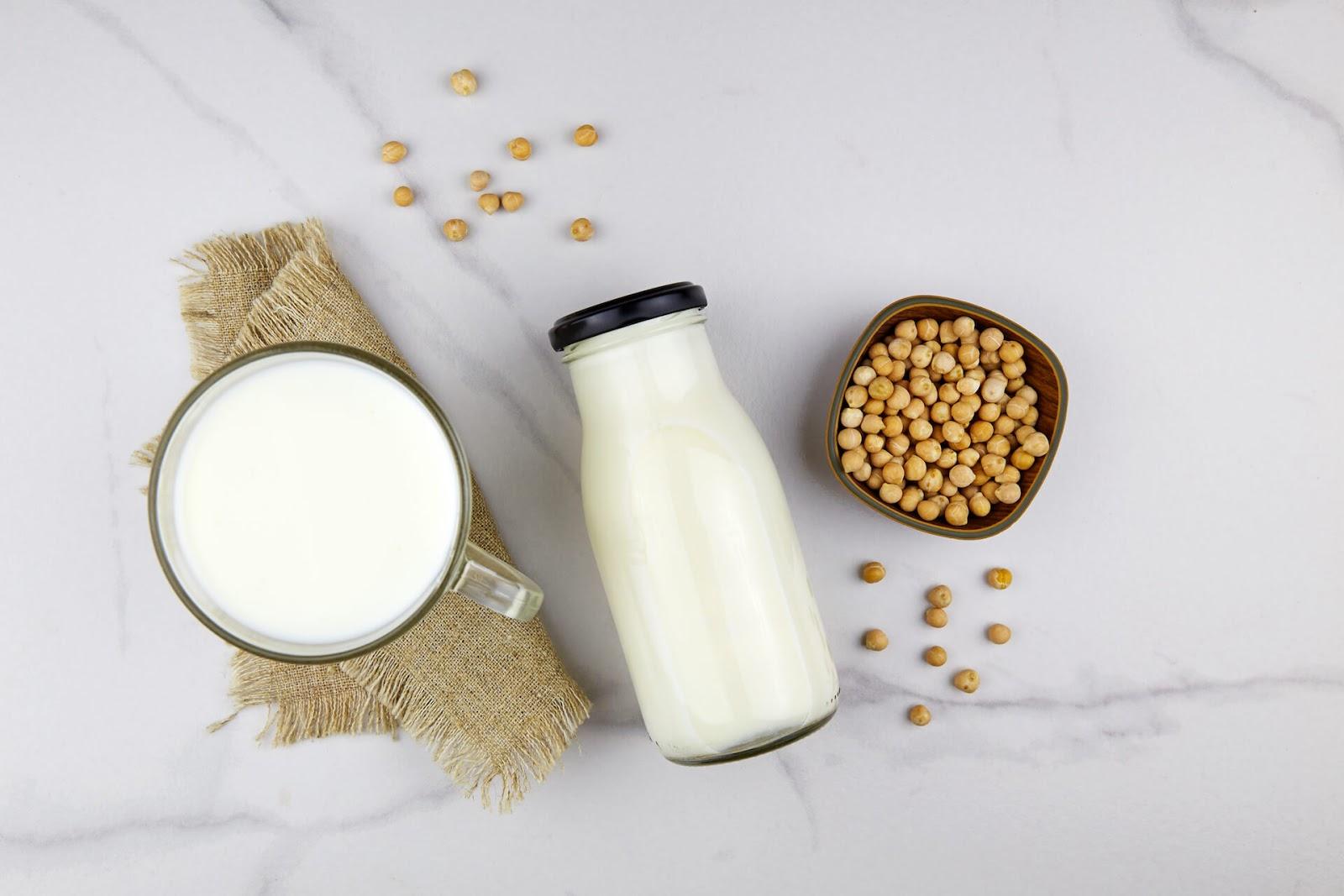 Garbanzo bean milk