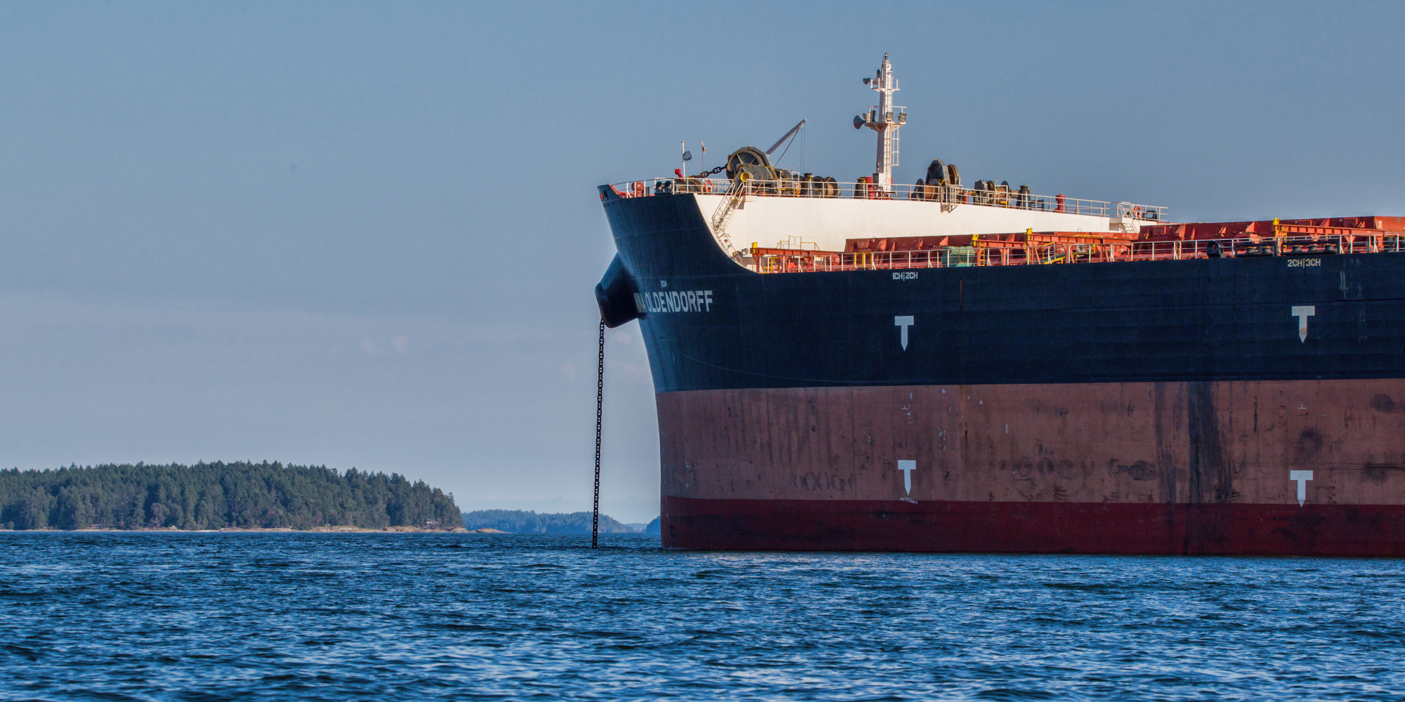 Rail Blockades Have Brought A Near-Unprecedented Traffic Jam of Freighters to Vancouver Island Waters