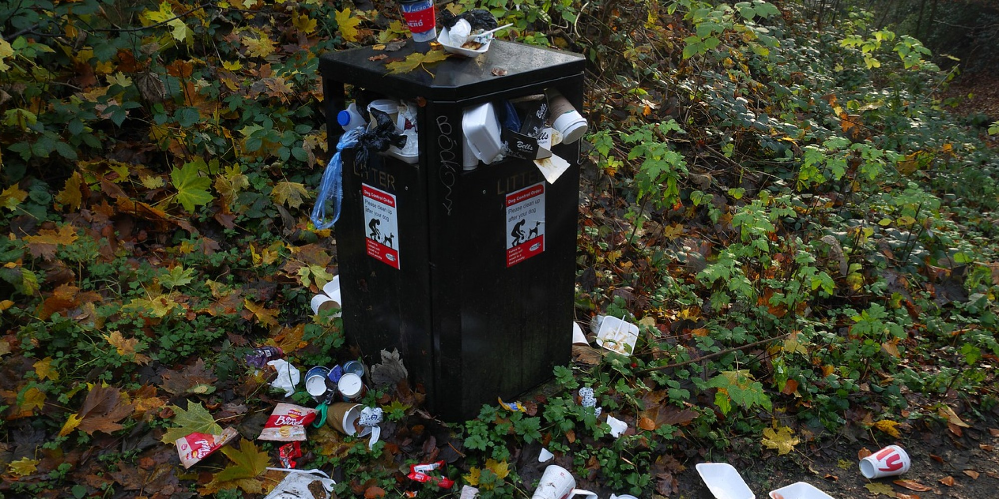 """Shift to Takeout Has Resulted in """"Overflowing"""" Garbage Cans"""