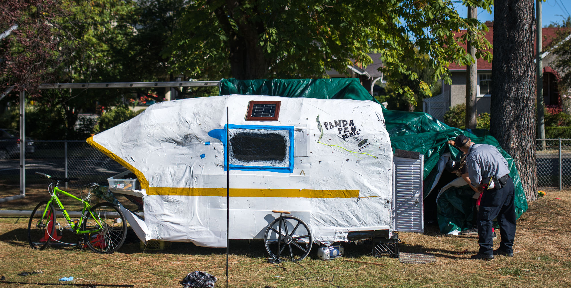 Inside Victoria's newest tent city
