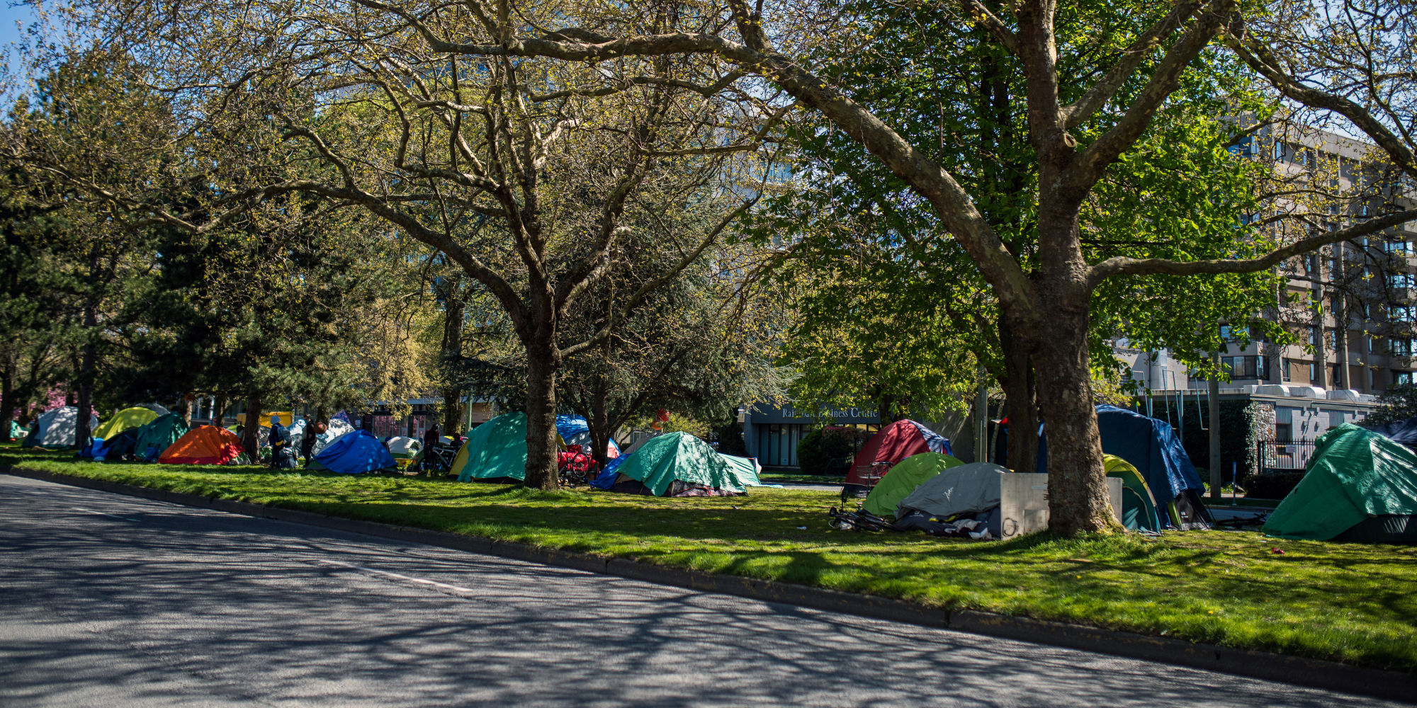 What is the government's end game on tent cities?