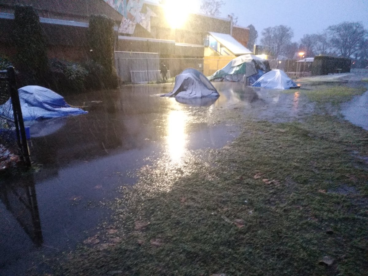 Central Park unhoused campers relocated for safety following harsh rain and snowfall