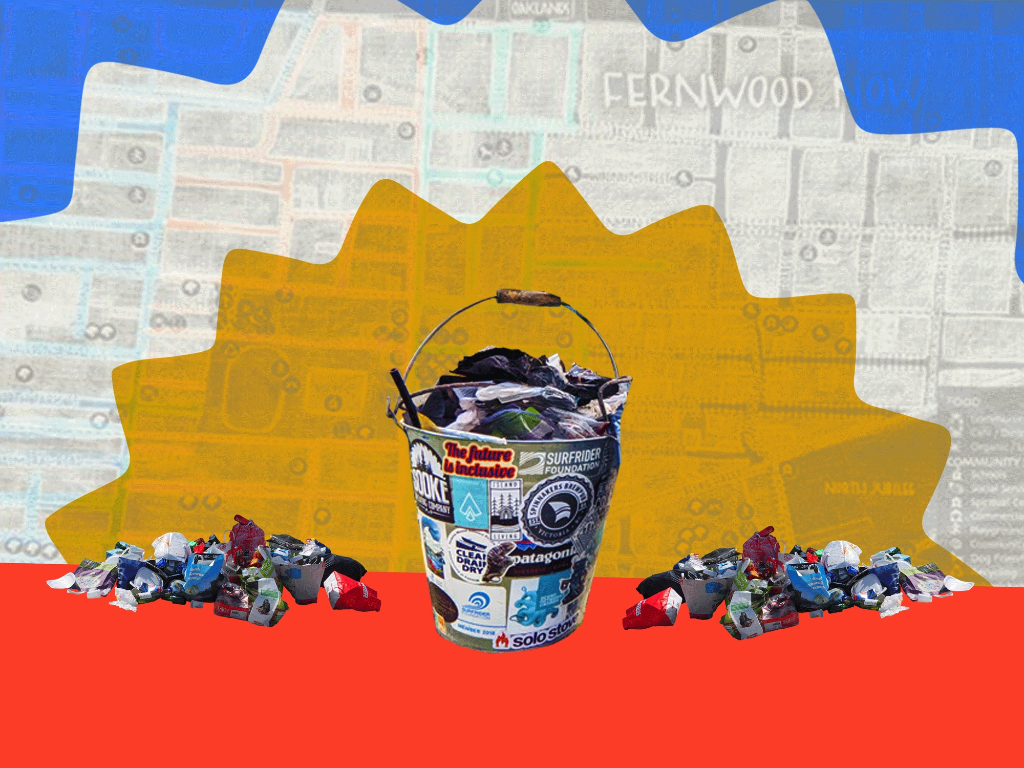 One bucket at a time, locals are taking on Victoria's litter