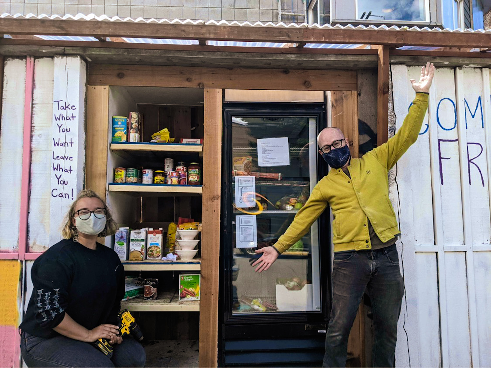 Victoria's first free fridge unveiled to the community