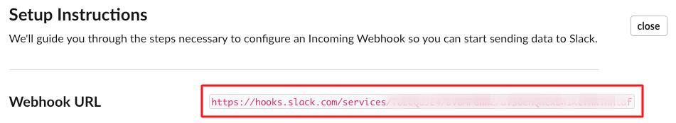 Slack webhooks